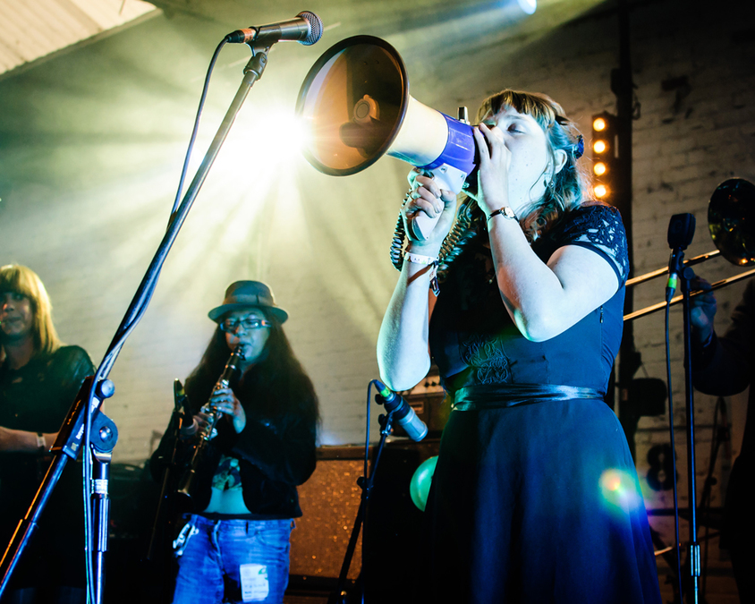 Liverpool Sound City 2014 – Harlequin Dynamite Marching Band