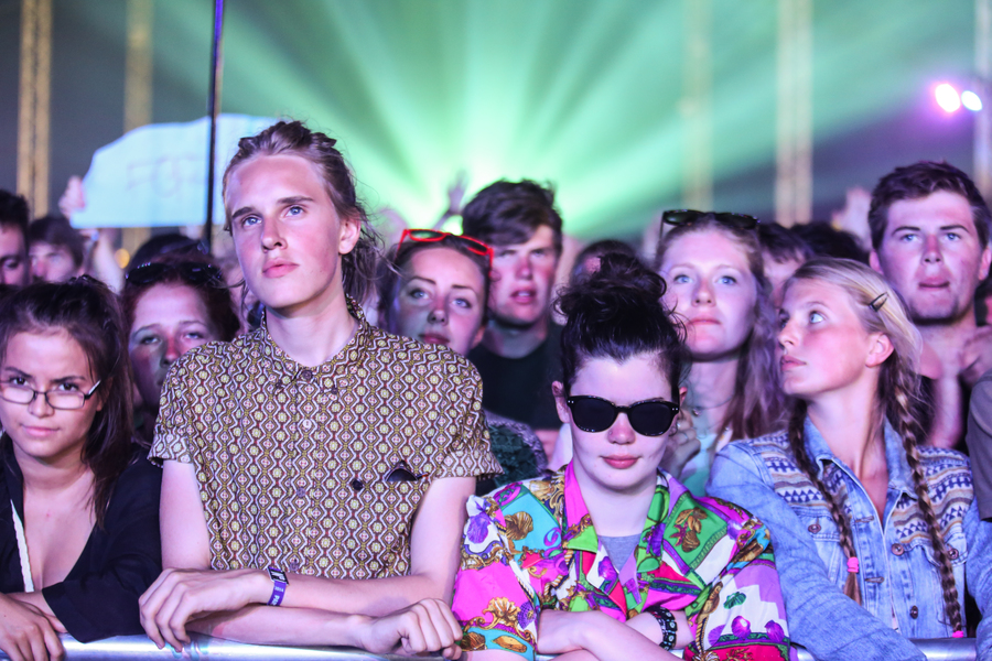 Crowds wait for Tame Impala