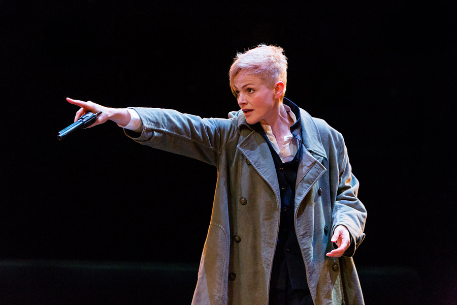 Maxine Peak in Hamlet at Royal Exchange Theatre