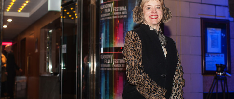 Director Carol Morley walks red carpet at Glasgow Film Festival 2015