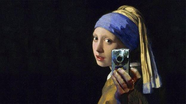Vermeer's Girl With a Pearl Earring Parody