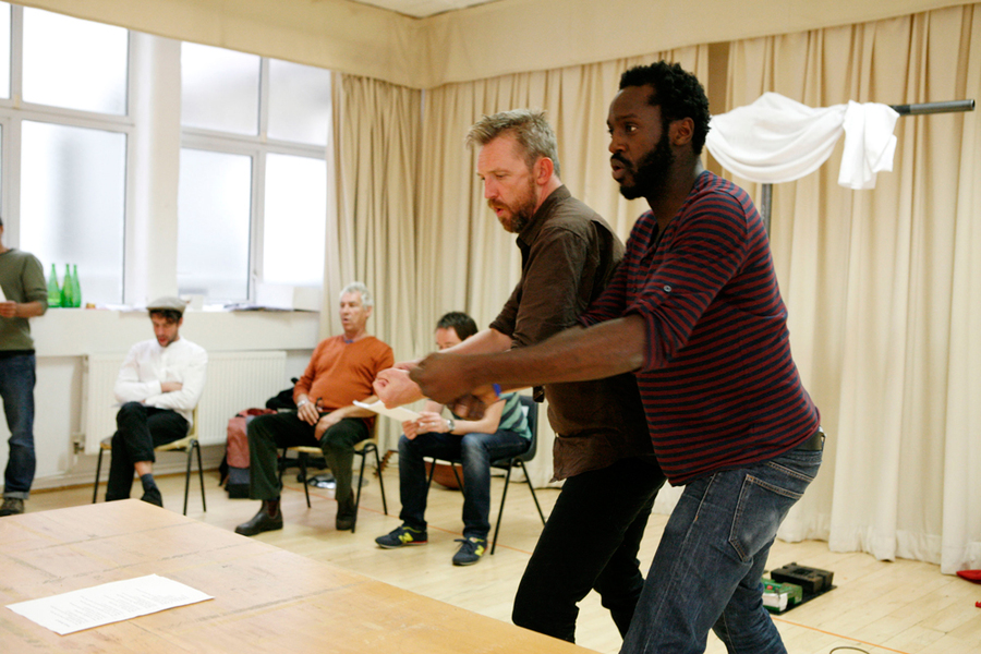 The Odyssey in rehearsal at Liverpool Everyman