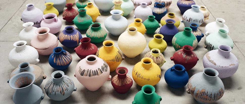 Ai Weiwei - Coloured Vases (2006)
