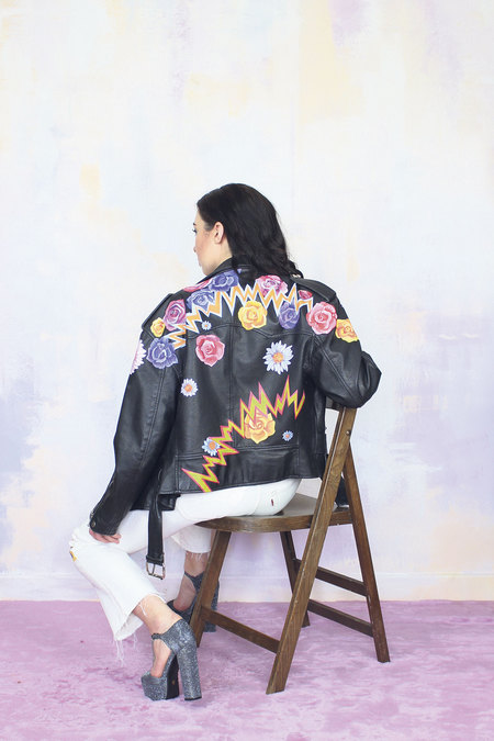Dirty Disco hand painted leather jacket