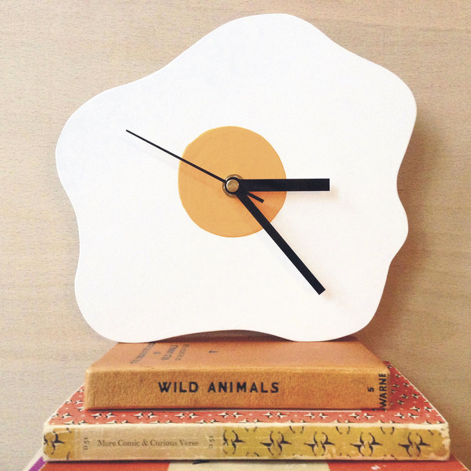 Amy Victoria Marsh fried egg wall clock
