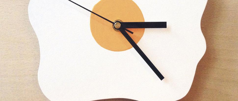 Amy Victoria Marsh fried egg wall clock