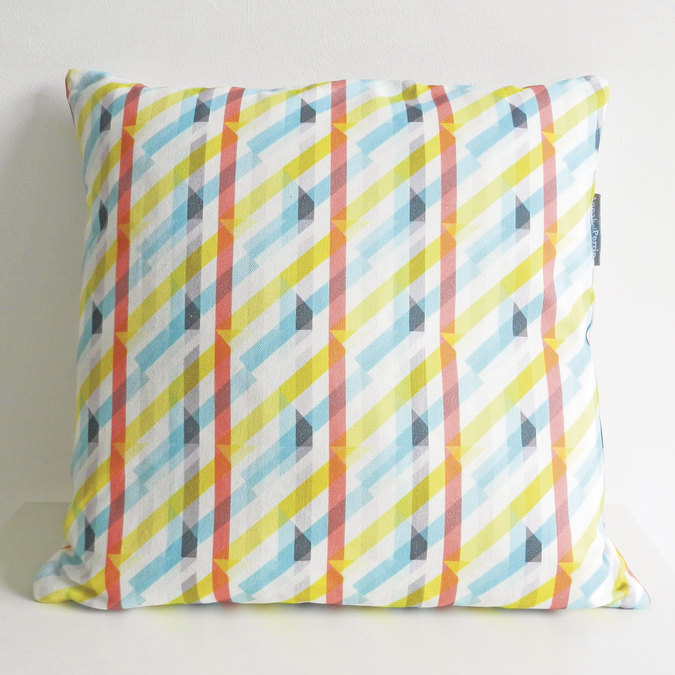 Annabel Perrin prism print cushion cover