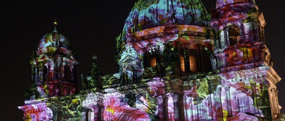 Berlin Tungsten Building at Night