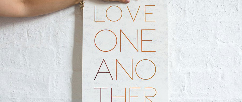 Love one another print by e.y.i love