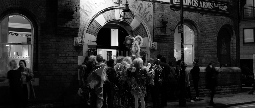 Costumologists outside The King's Arms Sounds from the Other City 2015!