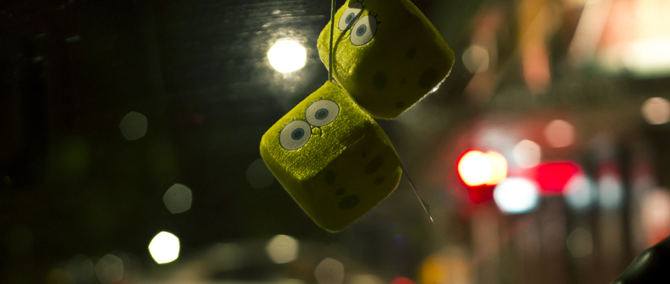 Spongebob Fluffy Dice
