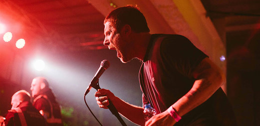 Sleaford Mods, performing at Cosmosis 2016