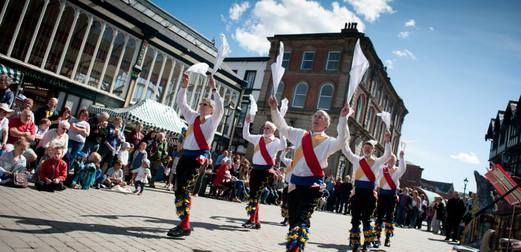 Morris Dancers at Stockport Old Town Folk Festival - The Skinny