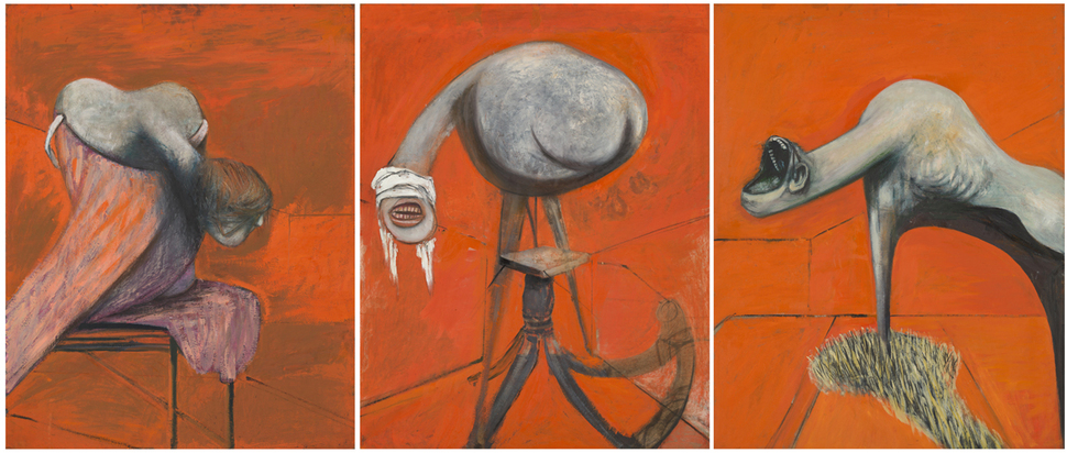Francis Bacon - Three Studies for Figures at the Base of a Crucifixion (c.1944) © Tate