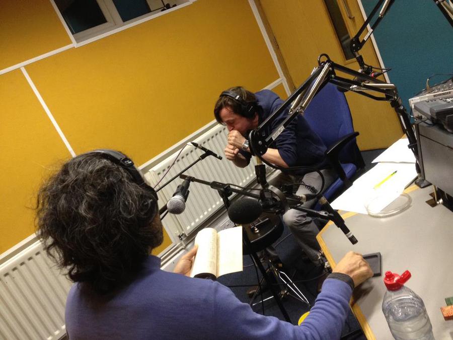 Neil Luck and Takahiro Tomatsu in the Resonance FM studio