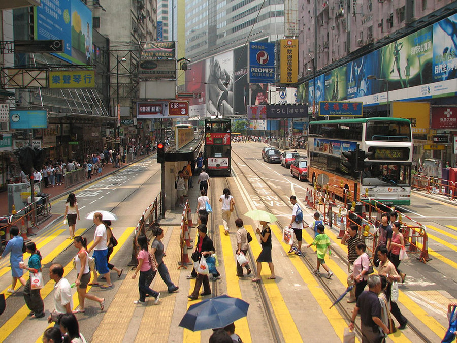 Hong Kong Street Crossing