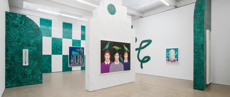 Nicolas Party, Installation view 'Three Cats', The Modern Institute, Aird's Lane, Glasgow, 2016