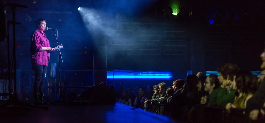 Rachel McCrum supporting Amanda Palmer live at The Liquid Rooms, Edinburgh