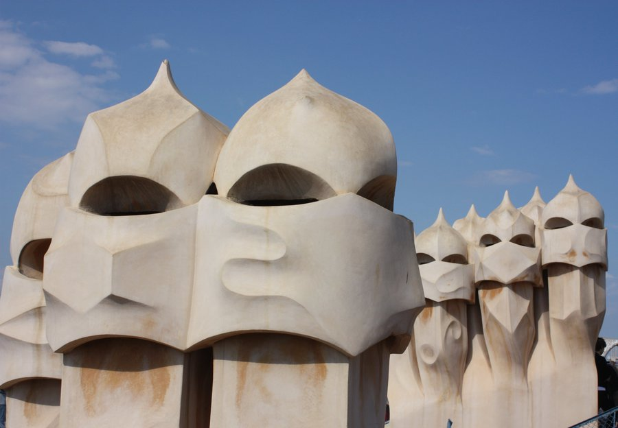 Barcelona, Casa Mila (La Pedrera), on the roof