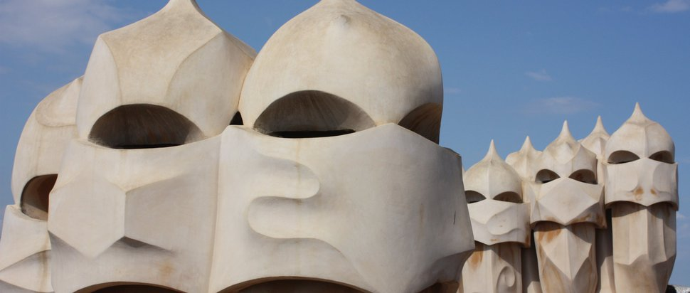 "Barcelona, Casa Mila (La Pedrera), on the roof by <a href=""https://www.flickr.com/photos/azwegers/"" target=""_blank"">Arian Zwegers</a>"