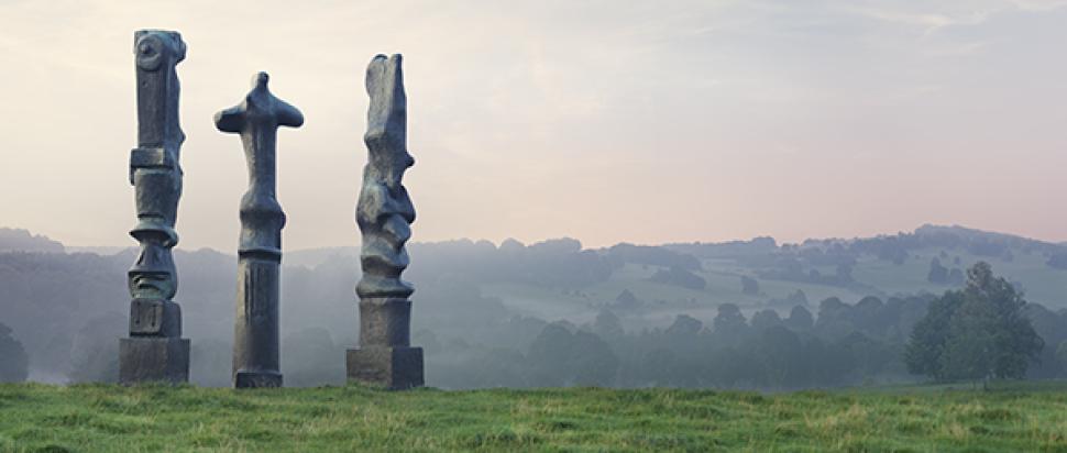 Henry Moore, Upright Motive No 2, No 7, No 1 (Glenkiln Cross), 1955-56 all courtesy Tate