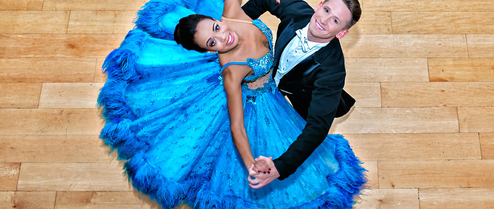 Strictly Ballroom: The Musical, Courtney-Mae Briggs and James Bennet on dance floor