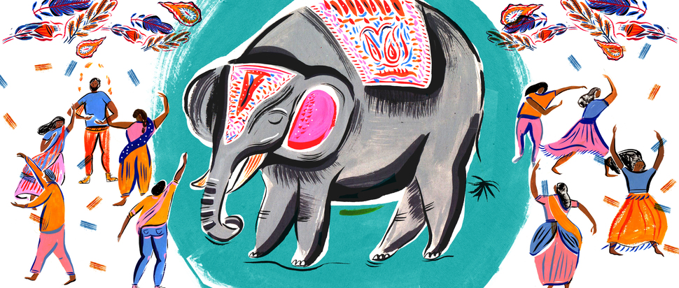 Travel illustration Elephant