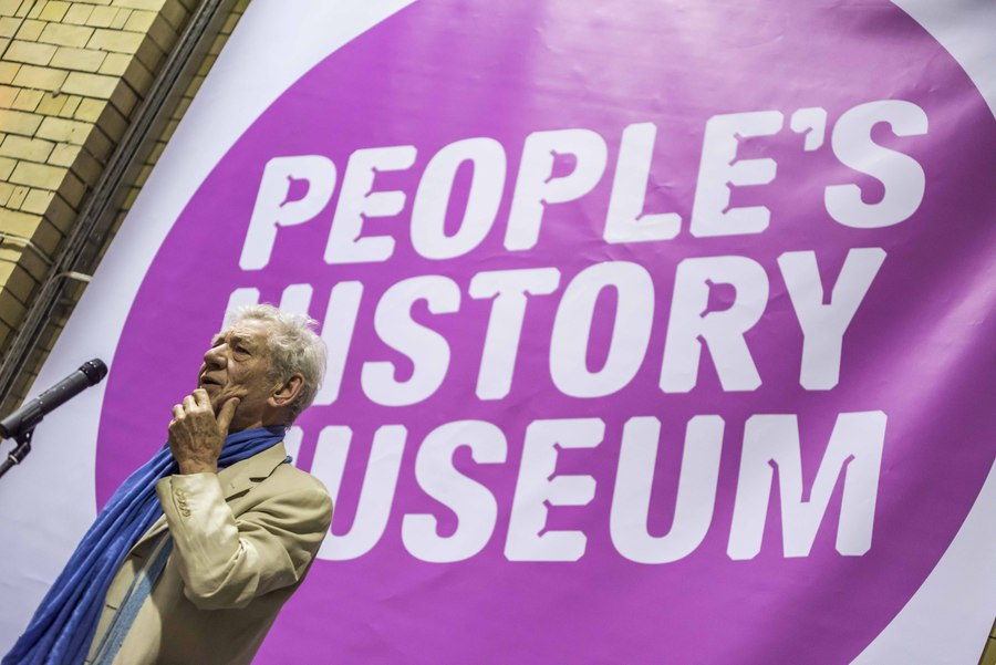 Ian McKellen at the People's History Museum, Manchester