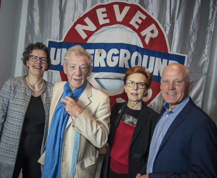 Never Going Underground launch with Ian McKellen