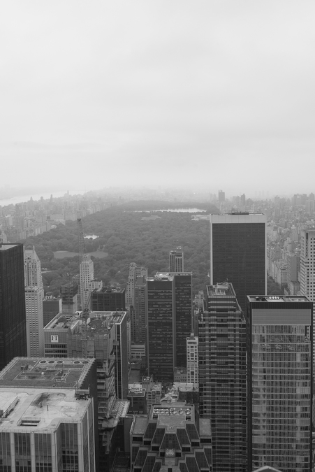 View over Upper Manhattan and Central Park