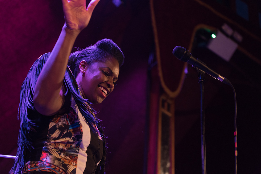 Ibibio Sound Machine live at Edinburgh Blues and Jazz Festival 2017