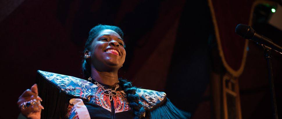 Ibibio Sound Machine live at Edinburgh Blues and Jazz Festival 2017