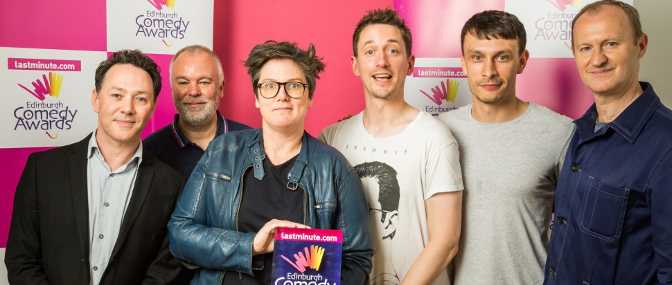 Hannah Gadsby and John Robins with Richard Gadd and the League of Gentlemen