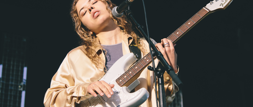 Nilufer Yanya supporting The XX live at SWG3 Galvanizers Yard, Glasgow