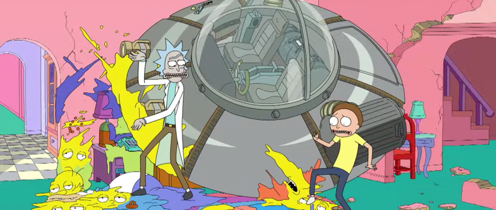 Rick and Morty drop in on The Simpsons