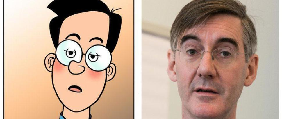 Jacob Rees-Moggand and Walter the Softy – the resemblance is uncanny