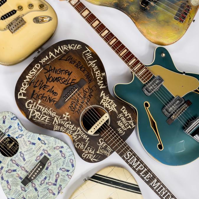 Guitars including Simple Minds, Josef K, Big Country, Rezillos