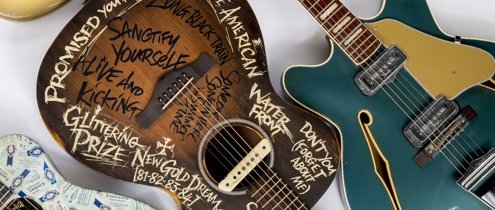 Guitars including Simple Minds, Josef K, Big Country, Rezillos