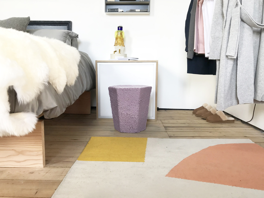 Andreu Carulla RR201 Recycled Polystyrene Stool - Carpet Tom Pigeon