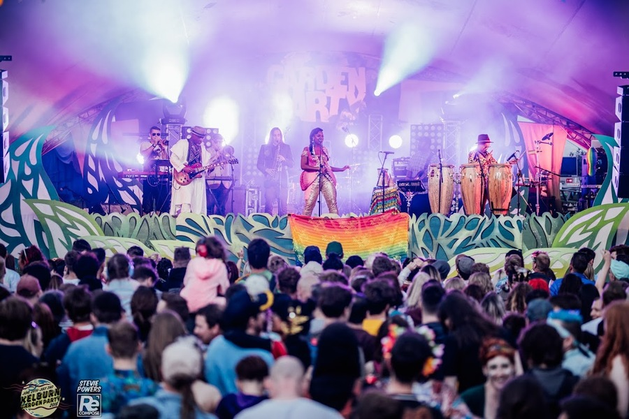 Ibibio Sound Machine live at Kelburn Garden Party 2018