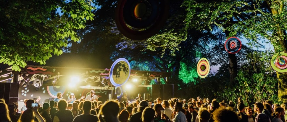 The Viewpoint Stage at Kelburn Garden Party 2018