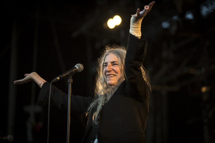Patti Smith live at La Route du Rock, Saint-Malo, 16-19 Aug
