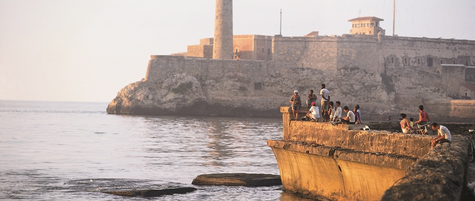 Fishing by the mouth of Havana Bay