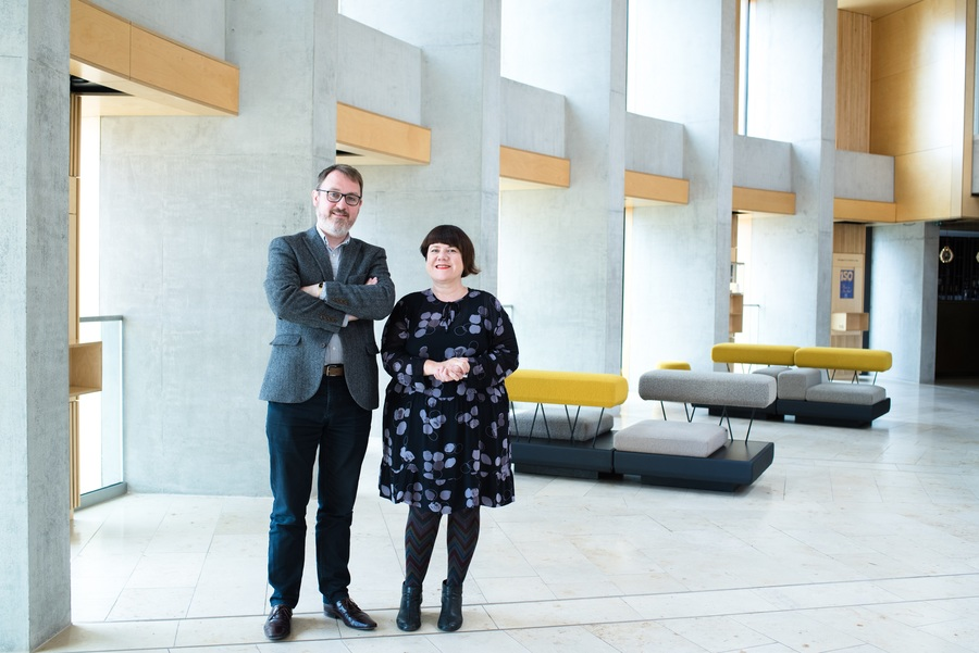 Stuart MacRae and Louise Welsh