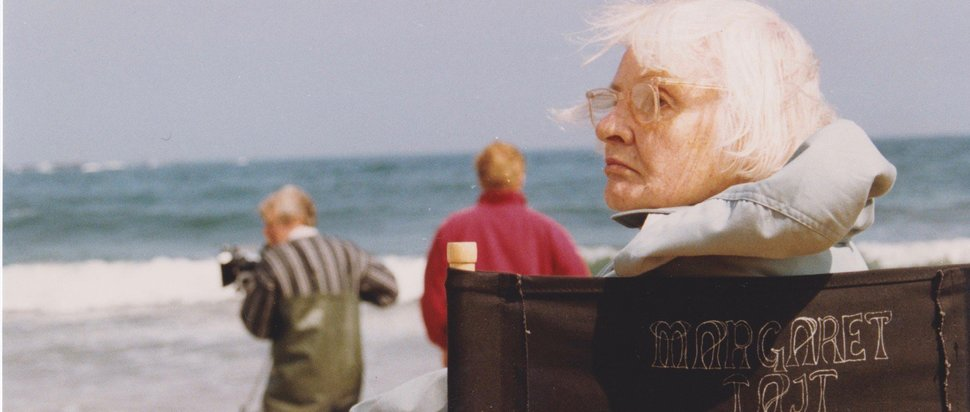Margaret Tait on set of Blue Black Permanent, 1992 Courtesy of Orkney Library and Archive