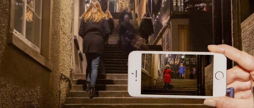 Janet Cardiff and George Bures Miller's Night Walk for Edinburgh