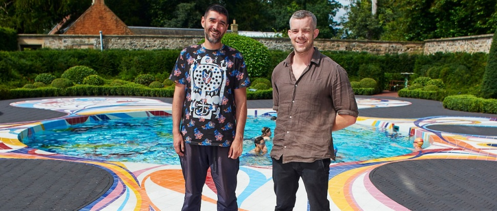 Robert Diament and Russell Tovey at Joana Vasconcelos' Gateway, Jupiter Artland
