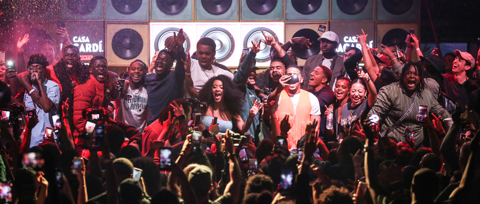 Sound of Rum Crew performs at Casa BACARDÍ at Boxpark in Croydon