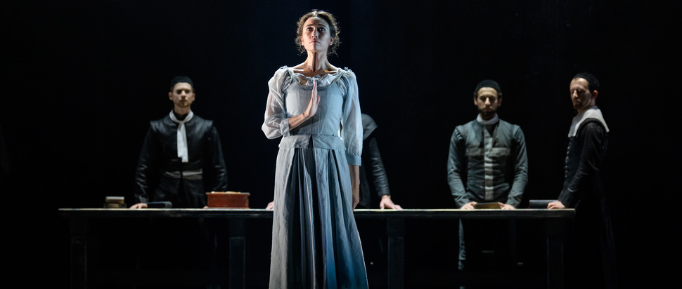 Araminta Wraith and company in Scottish Ballet's The Crucible