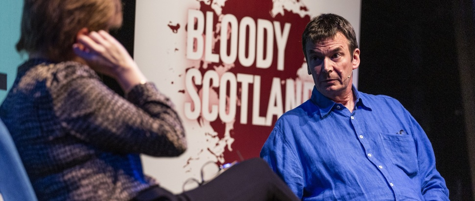 Ian Rankin and Nicola Sturgeon at Bloody Scotland